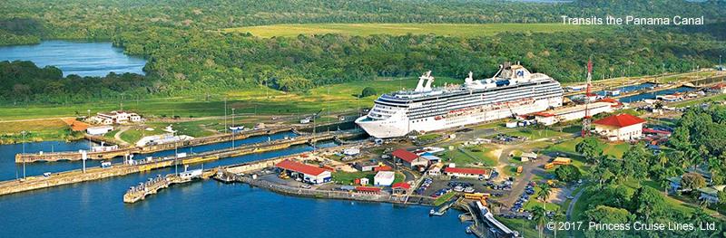 Transits the Panama Canal